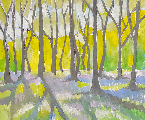 """Bluebell Wood - Oil Painting 