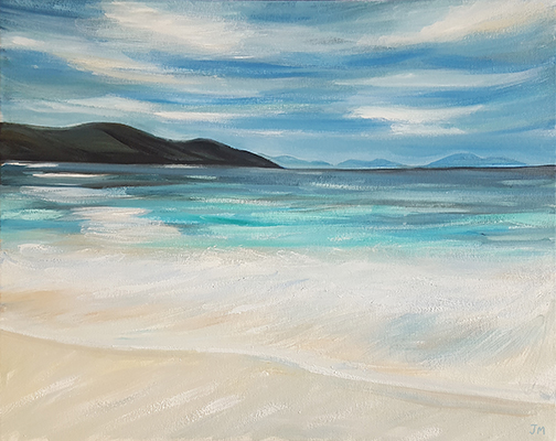 """Clear Blue Seas - Oil Painting 