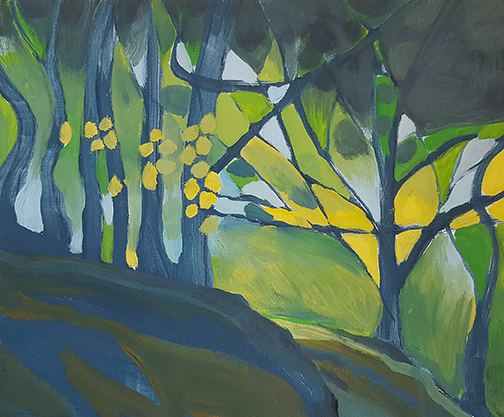 """Crag Woods - Oil Painting 