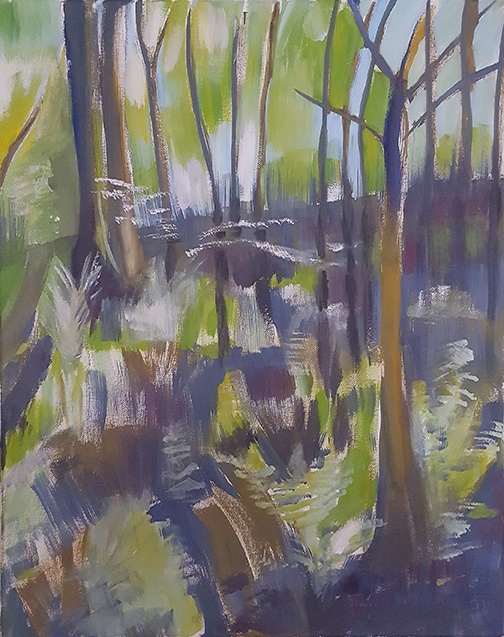 """Into The Wood - Oil Painting 