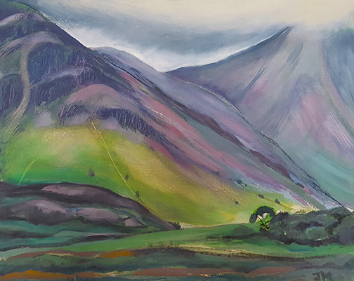 """Majestic Mountains - Oil Painting 