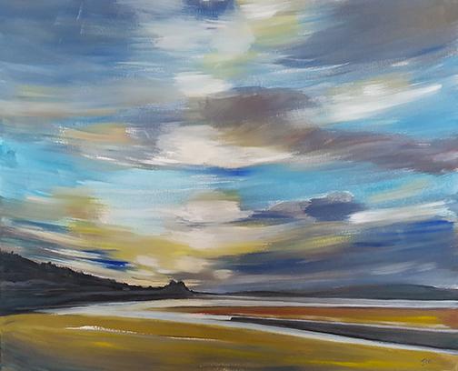 "Sandside - Oil Painting | Size - ""31 x 25"" - SOLD"