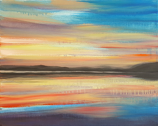 "Sensational Sunset - Oil Painting | Size - ""21 x 17"""