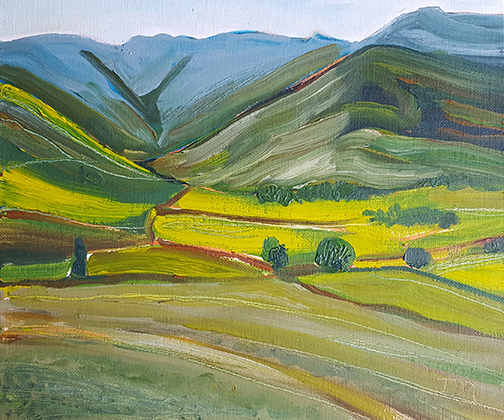 """Summer Hills  - Oil Painting 