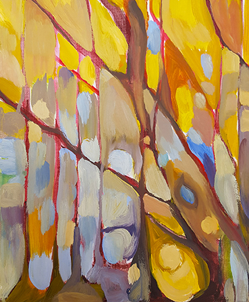"""Sunlight Through Trees - Oil Painting 