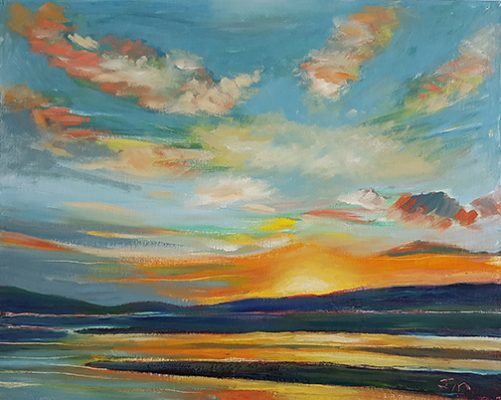 """Sunset  - Oil Painting 
