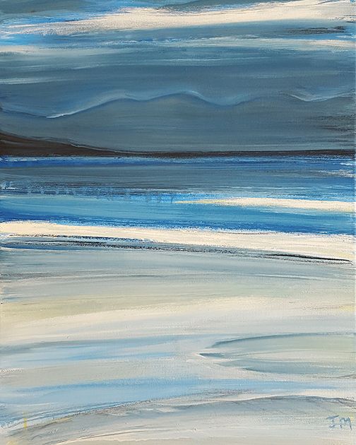 """Symphony In Blue - Oil Painting - Size - """"21 x 17"""""""