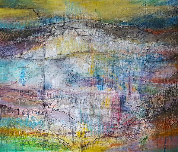 Archaeological Edge mixed media painting