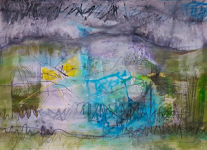 Journey - mixed media painting