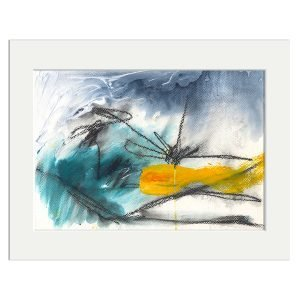 be here now - original abstract art