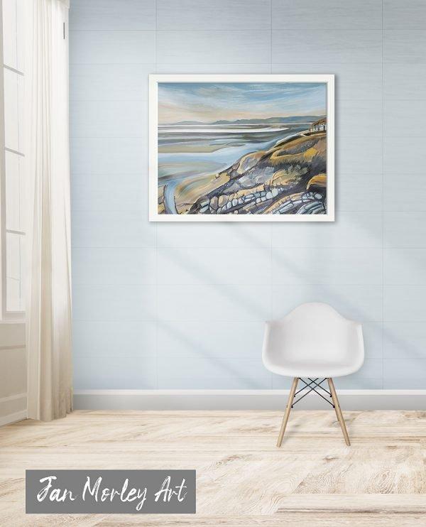 Estuary View framed