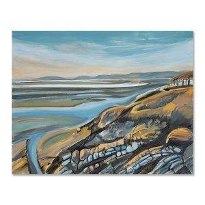 Estuary view - mixed media original art