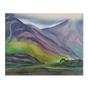 Majestic mountains - original art