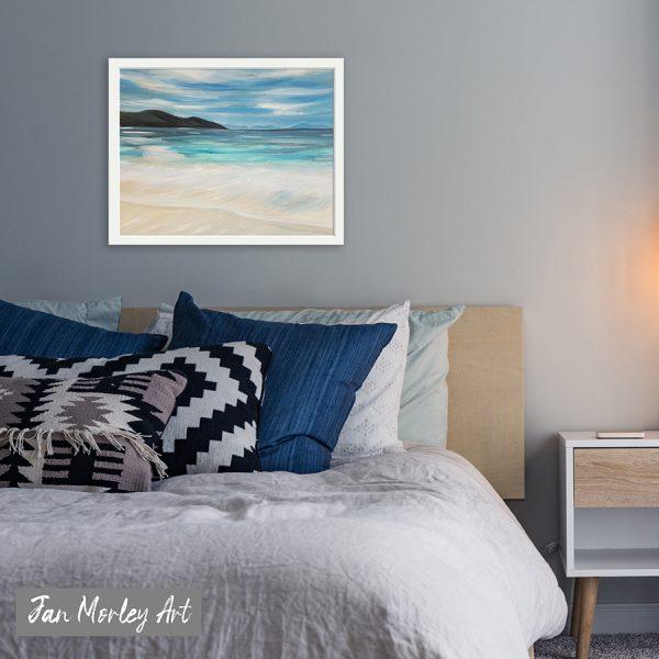clear blue sea - original oil painting in situ