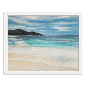clear blue sea - original oil painting